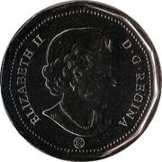 Canada Dollar Montreal Canadiens 2009 KM# 853 ELIZABETH II D ∙ G ∙ REGINA coin obverse
