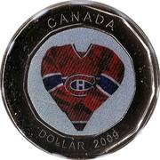 Canada Dollar Montreal Canadiens 2009 KM# 853 CANADA DOLLAR 2009 coin reverse