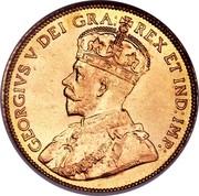 Canada Five Dollars George V 1912 KM# 26 GEORGIUS V DEI GRA: REX ET IND:IMP: coin obverse