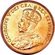 Canada Ten Dollars George V 1914 KM# 27 GEORGIVS V DEI GRA: REX ET IND:IMP: coin obverse