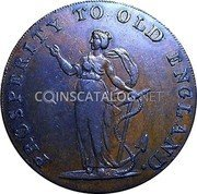 UK 1/2 Penny (Norfolk - Norwich / R. Dinmore) MORE TRADE AND FEWER TAXES. coin obverse