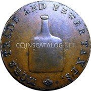 UK 1/2 Penny (Norfolk - Norwich / R. Dinmore) PROSPERITY TO OLD ENGLAND. coin reverse