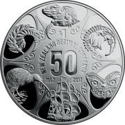New Zealand $1 50 Years of New Zealand Decimal Currency 2017 Proof NEW ZEALAND DECIMAL CURRENCY $1 50 YEARS 1967 2017 coin reverse