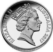 Australia 1 Cent Decimal designs in perspective 2017 Proof ELIZABETH II AUSTRALIA 2017 RDM coin obverse