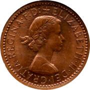UK 1 Cent Elizabeth II (One Decimal Penny Pattern) 1961 KM# Pn139 ELIZABETH∙II∙DEI∙GRATIA∙REGINA∙F:D:+ coin obverse