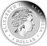 Australia 1 Dollar Australian Kookaburra 2018 ELIZABETH II AUSTRALIA ∙ 1 DOLLAR ∙ IRB coin obverse
