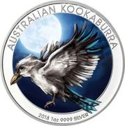 Australia 1 Dollar Australian Kookaburra 2018 AUSTRALIAN KOOKABURRA 2018 1OZ 9999 SILVER P NM coin reverse