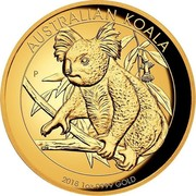 Australia 100 Dollars Australian Koala 2018 P Proof AUSTRALIAN KOALA 2018 1OZ 9999 GOLD P NM coin reverse