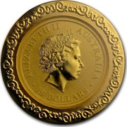 Australia 15 Dollars Australian Kangaroo (Chinese Privy) 2014 ELIZABETH II AUSTRALIA 15 DOLLARS IRB coin obverse