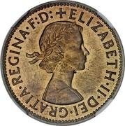 UK 2 Cents Elizabeth II (Decimal Pattern) 1961 KM# Pn140 ELIZABETH∙II∙DEI∙GRATIA∙REGINA∙F:D:+ coin obverse