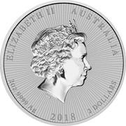 Australia 2 Dollars Koala - Mother & Baby 2018 ELIZABETH II AUSTRALIA 2OZ 9999 AG 2018 2 DOLLARS IRB coin obverse