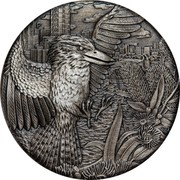 Australia 2 Dollars Kookaburra Antiqued 2018  coin reverse