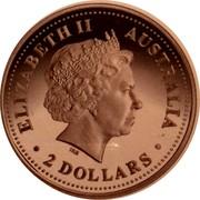 Australia 2 Dollars The Australian Kookaburra (Victoria Cross Privy mark) 2000 P Proof ; Victoria Cross Privy ELIZABETH II AUSTRALIA ∙ 2 DOLLARS ∙ coin obverse