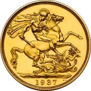 UK 2 Pounds Edward VIII Pattern 1937 Proof 1937 B.P. coin reverse
