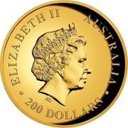 Australia 200 Dollars Wedge-Tailed Eagle 2016 ELIZABETH II AUSTRALIA 200 DOLLARS IRB coin obverse