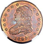 USA 25 C. (Capped Bust Pattern)  LIBERTY 1827 coin obverse