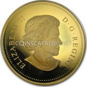 Canada 2500 Dollars (Sugar Maple Majesty) ELIZABETH II D. G. REGINA coin obverse