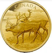 Canada 2500 Dollars The Caribou 2013 Proof KM# 1501 CANADA coin reverse