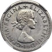 UK 5 Cents Elizabeth II (Decimal Pattern) 1961 KM# Pn141 ELIZABETH∙II∙DEI∙GRATIA∙REGINA + coin obverse