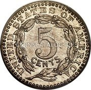 USA 5 Cents (Pattern) KM# Pn1863 UNITED STATES OF AMERICA 5 CENTS coin reverse