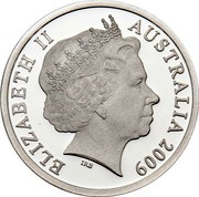 Australia 5 Dollars 200 Years of Postal Services in Australia 2009 Proof ELIZABETH II AUSTRALIA 2009 ∙ 5 DOLLARS ∙ IRB coin obverse