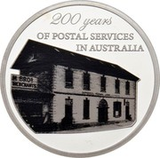 Australia 5 Dollars 200 Years of Postal Services in Australia 2009 Proof 200 years OF POSTAL SERVICES IN AUSTRALIA coin reverse