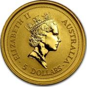 Australia 5 Dollars Australian Nugget 1994 ELIZABETH II AUSTRALIA 5 DOLLARS RDM coin obverse