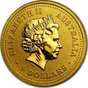 Australia 5 Dollars The Australian Gold Nugget 1999 ELIZABETH II AUSTRALIA ∙ 5 DOLLARS ∙ IRB coin obverse