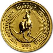Australia 5 Dollars The Australian Gold Nugget 1999 THE AUSTRALIAN NUGGET 1/20OZ. 9999 GOLD 1999 P100 coin reverse
