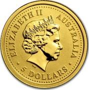 Australia 5 Dollars The Australian Nugget 2005 ELIZABETH II AUSTRALIA 5 DOLLARS IRB coin obverse