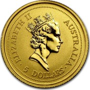 Australia 5 Dollars The Nugget 1998 ELIZABETH II AUSTRALIA ∙ 5 DOLLARS ∙ RDM coin obverse