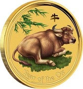 Australia 5 Dollars Year of the Ox 2008 YEAR OF THE OX coin reverse