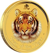 Australia 5 Dollars Year of the Tiger 2008 YEAR OF THE TIGER coin reverse