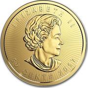 Canada 50 Cents Maple Leaf - Maplegram 25™ 2017 ELIZABETH II 50 CENTS 2017 coin obverse
