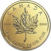 Canada 50 Cents Maple Leaf - Maplegram 25™ 2017 9999 FINE GOLD 1G OR PUR CANADA 9999 coin reverse