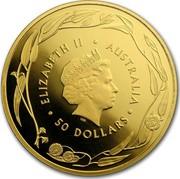 Australia 50 Dollars (RAM Kangaroo (In Assay)) ELIZABETH II AUSTRALIA 50 DOLLARS IRB coin obverse