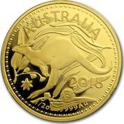 Australia 50 Dollars (RAM Kangaroo (In Assay)) AUSTRALIA 2018 1/2 OZ .9999 AU coin reverse