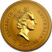 Australia 50 Dollars The Australian Nugget 1998 ELIZABETH II AUSTRALIA ∙ 50 DOLLARS ∙ RDM coin obverse