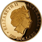 Australia 500 Dollars High Relief Wedge-Tailed Eagle 2018 Proof ELIZABETH II AUSTRALIA 500 DOLLARS coin obverse