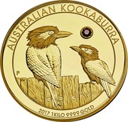 Australia 5000 Dollars The Australian Trilogy - Kookaburra 2017 P Proof AUSTRALIAN KOOKABURRA P 2017 1 KILO 9999 GOLD coin reverse