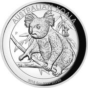 Australia 8 Dollars Australian Koala 2018 P High Relief Proof AUSTRALIAN KOALA 2018 5OZ 9999 SILVER P NM coin reverse