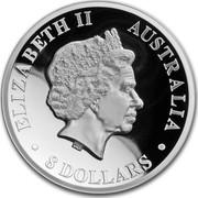 Australia 8 Dollars Australian Kookaburra 2018 ELIZABETH II AUSTRALIA 8 DOLLARS coin obverse
