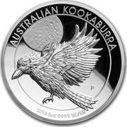 Australia 8 Dollars Australian Kookaburra 2018 AUSTRALLIAN KOOKABURRA 2018 5OZ 9999 SILVER coin reverse