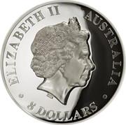 Australia 8 Dollars High Relief Wedge-Tailed Eagle 2018 Proof ELIZABETH II AUSTRALIA 8 DOLLARS coin obverse