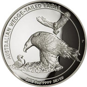 Australia 8 Dollars High Relief Wedge-Tailed Eagle 2018 Proof AUSTRALIAN WEDGE-TAILED EAGLE 2018 5 OZ 9999 SILVER P coin reverse