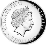 Australia 8 Dollars Wedge-Tailed Eagle 2016 ELIZABETH II AUSTRALIA 8 DOLLARS IRB coin obverse