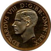 UK Crown 1937 Pre-Decimal coinage EDWARDVS VIII D:G:BR:OMN:REX DRO coin obverse