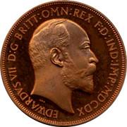 UK Crown Edward VII Pattern ND EDWARDVS VII D:G BRITT:OMN:REX F:D:IND:IMP:MDCDX coin obverse