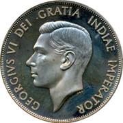 UK Crown George VI Pattern 1937 GEORGIVS VI DEI GRATIA INDIAE IMPERATOR coin obverse