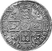 UK ½ Crown (William III) KM# 492.4 17 01 MAG BR · FRA ET · HIB REX coin reverse